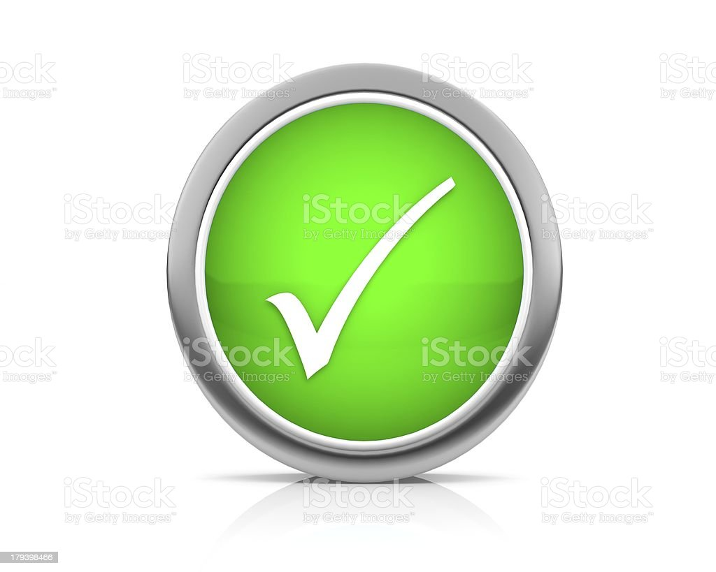check mark icon stock photo
