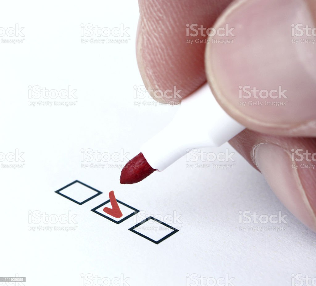 Check Mark royalty-free stock photo