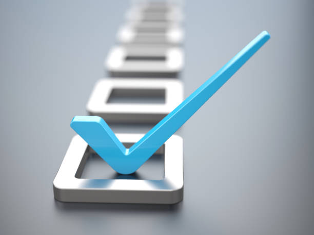 check mark - checklist stock photos and pictures