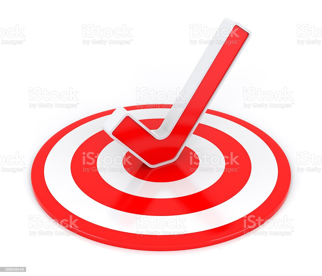 Check Mark with Target royalty-free stock photo