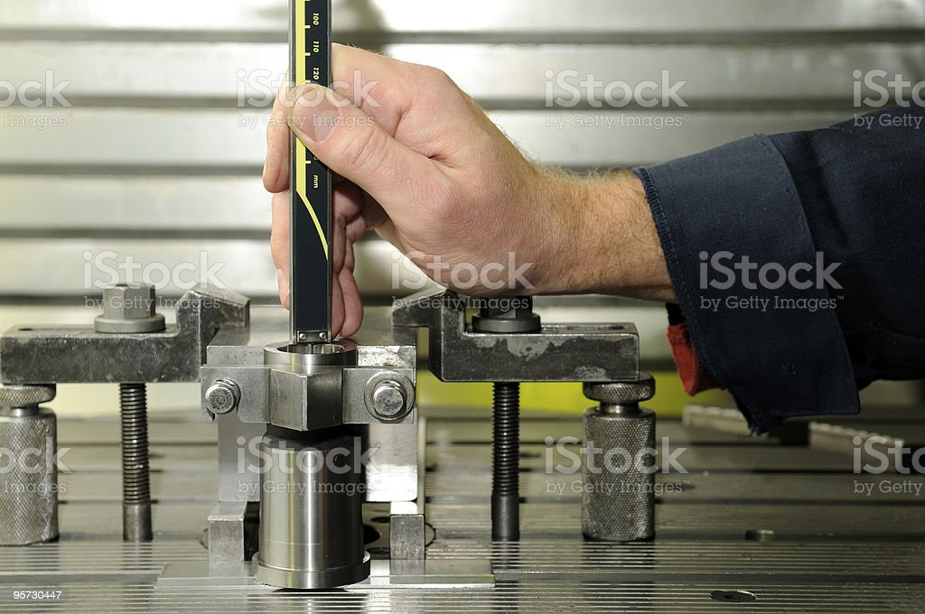 Check measurment by caliper royalty-free stock photo