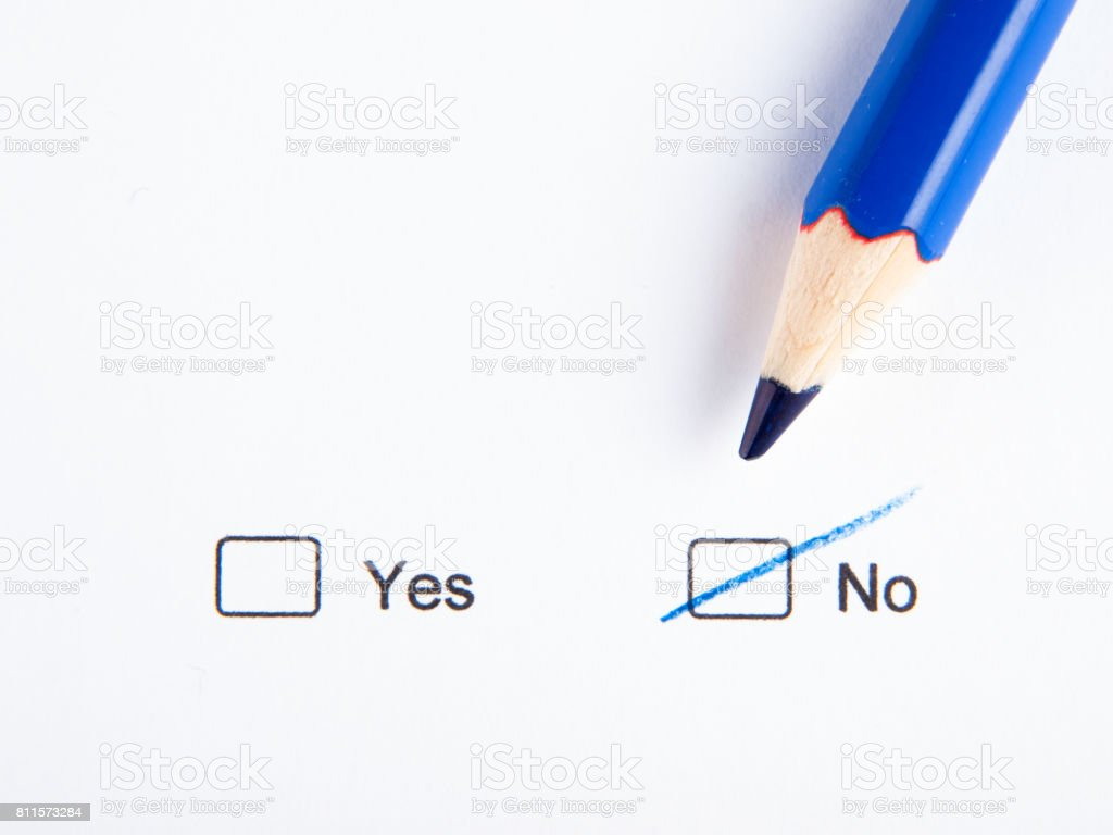 Check No not Yes stock photo