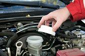 istock Check of a brake liquid. 93419495