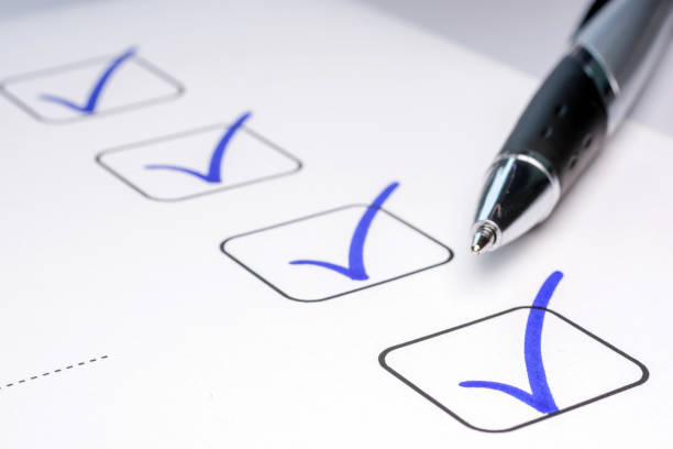 Check off completed tasks on a to-do list check marks chores stock pictures, royalty-free photos & images