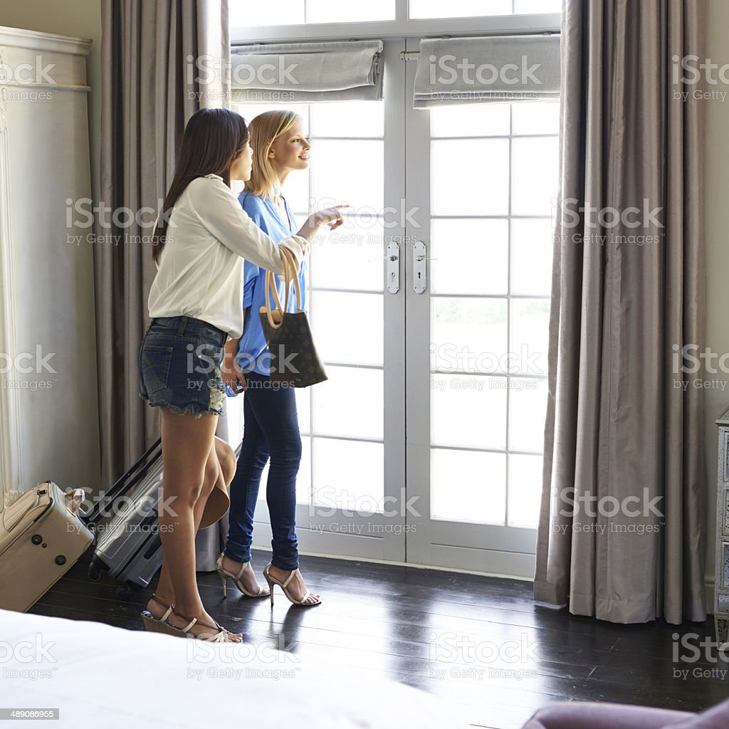 Check out this view! stock photo