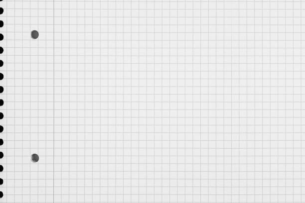 check pattern paper background - folha de caderno imagens e fotografias de stock