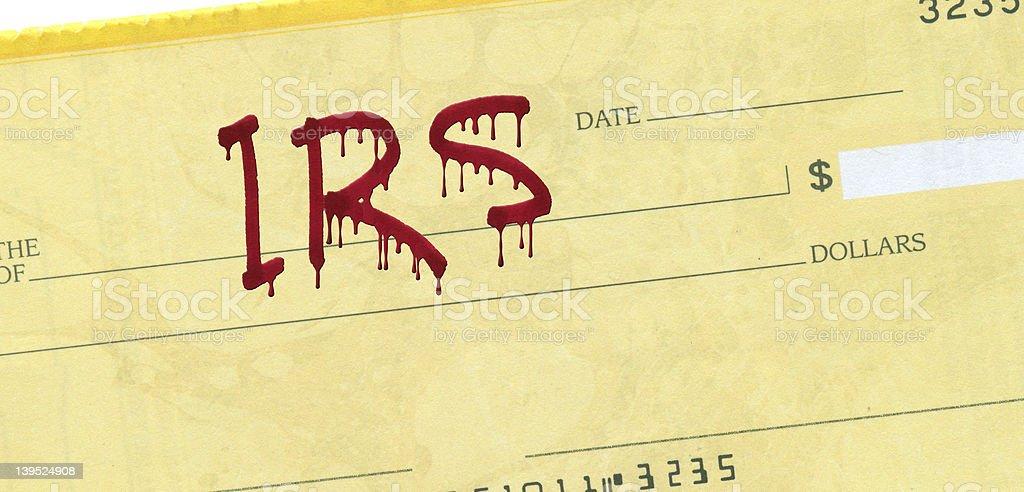 IRS Check stock photo