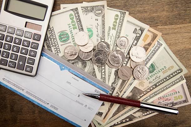 проверьте  - dollar bill стоковые фото и изображения