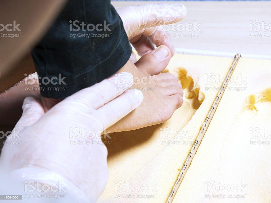 Check podiatric stock photo
