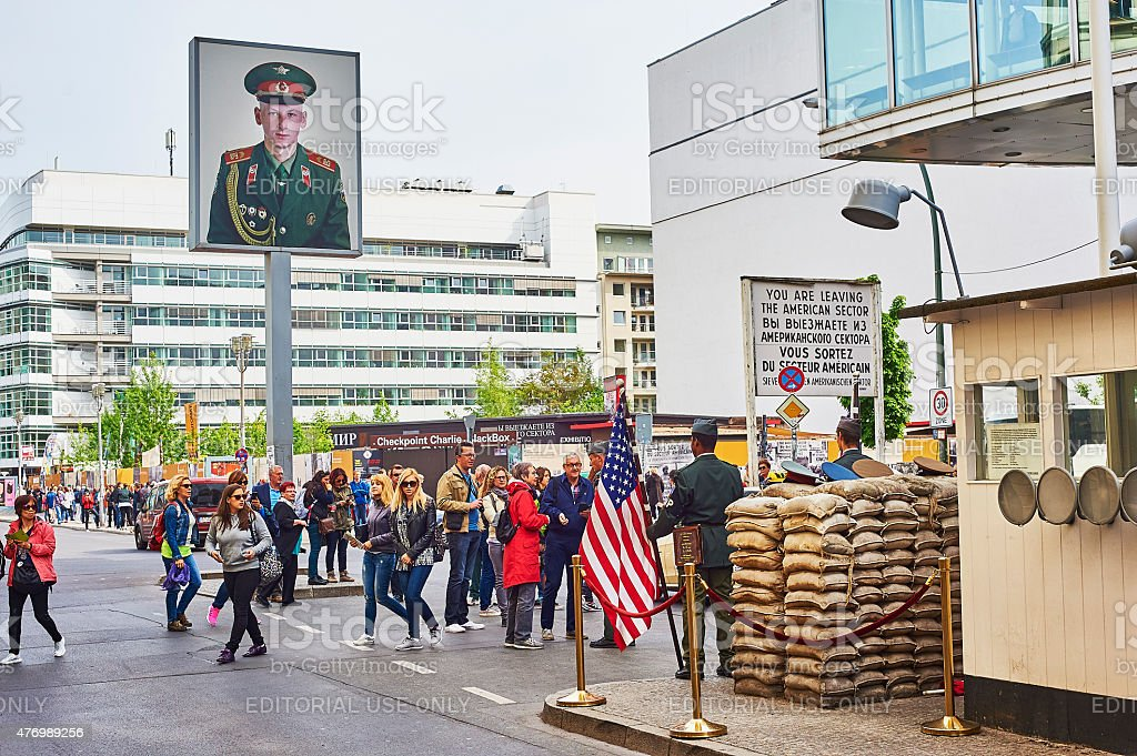 Check Point Charlie stock photo