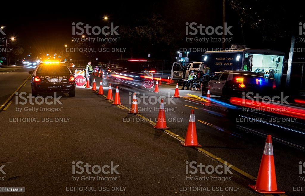 DUI Check Point stock photo