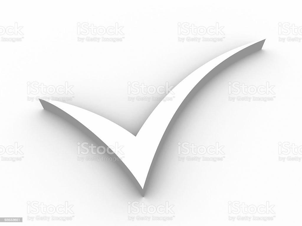 Check symbol royalty-free stock photo