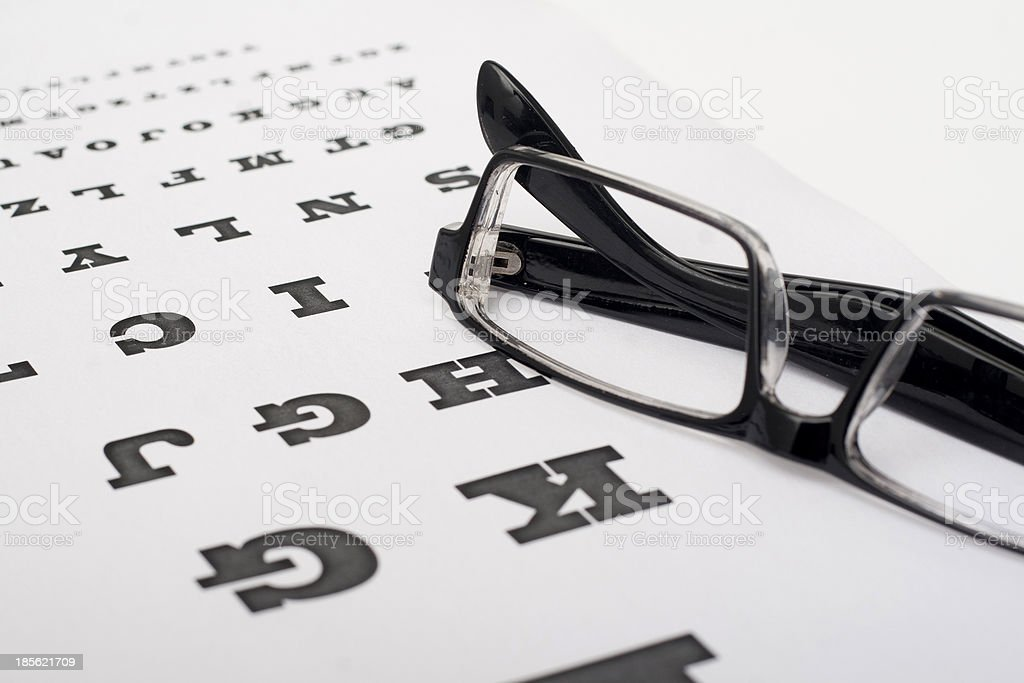 check the eyesight royalty-free stock photo