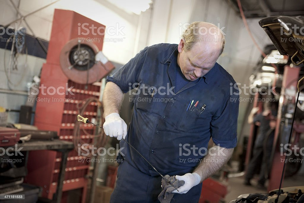 Check the Oil! royalty-free stock photo