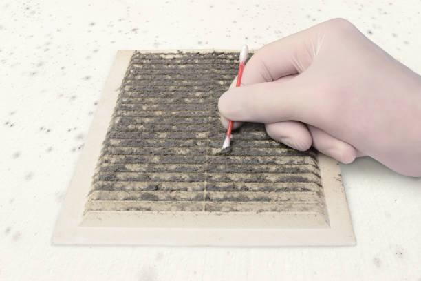 controleren van de vervuiling van de ventilatie - kwaliteitscontroleur stockfoto's en -beelden