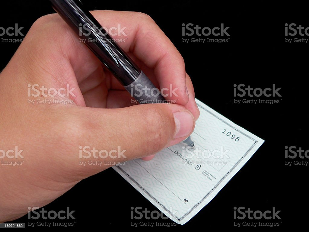 Check Writing royalty-free stock photo