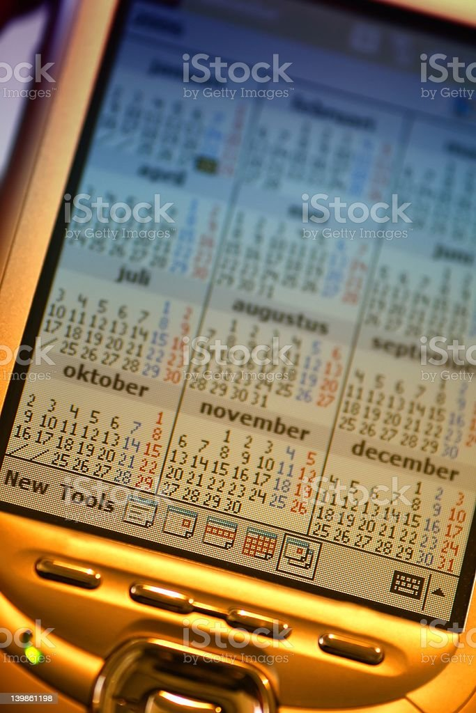 Check your agenda royalty-free stock photo