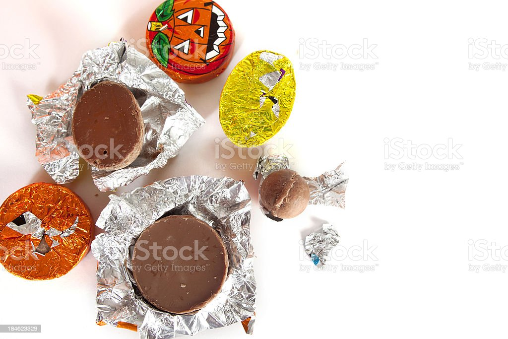 Check Your Halloween Candy stock photo