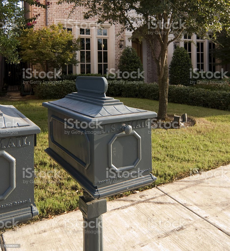 Check your mailbox royalty-free stock photo