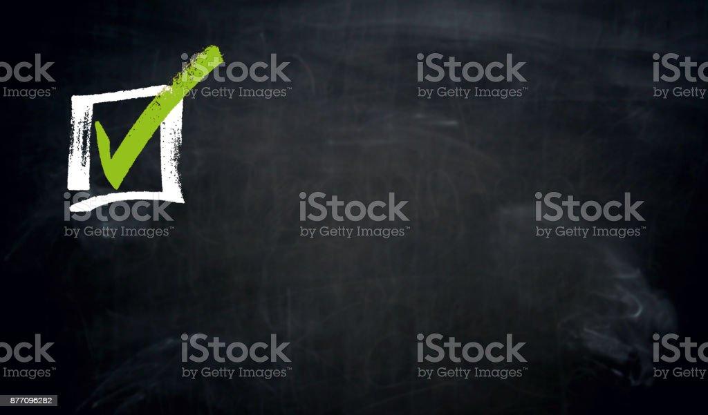 Checkbox-Tafel-Konzept-Hintergrund – Foto