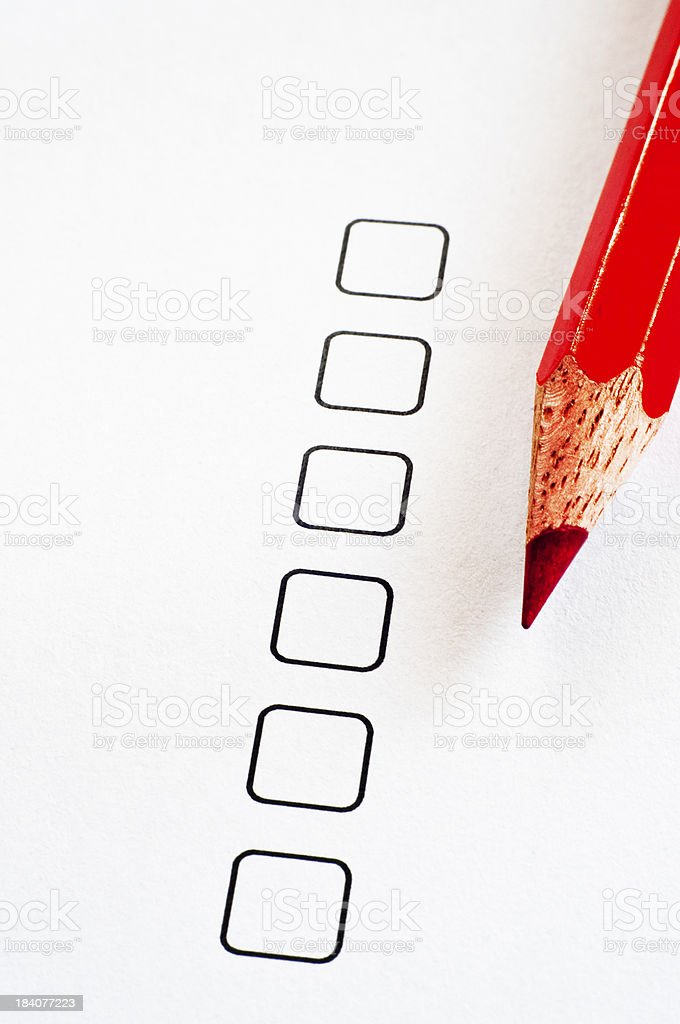 Checkbox stock photo