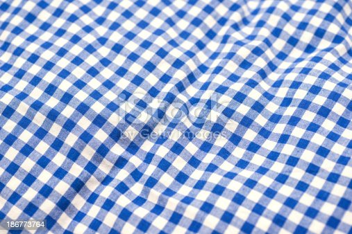 blue  checked pattern
