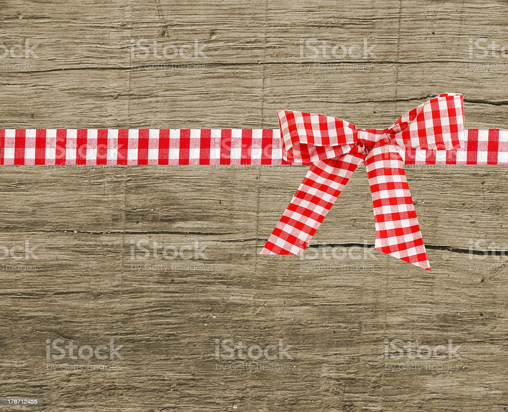 checked bow stock photo