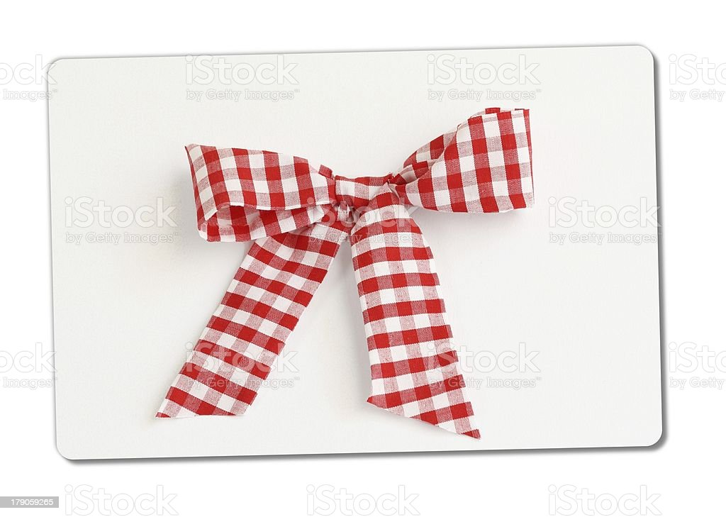 checked bow royalty-free stock photo