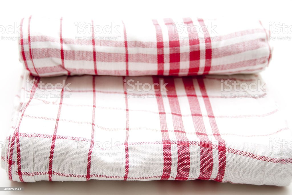 Checked dish towels royalty-free stock photo