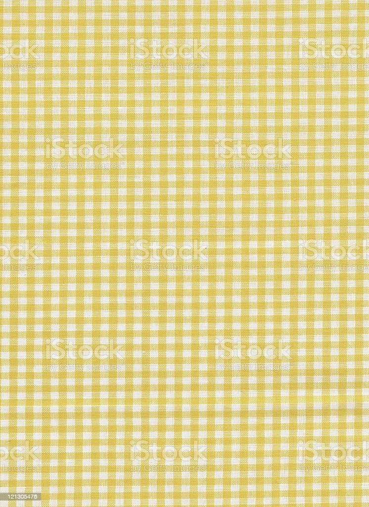 Checked fabric in yellow and white royalty-free stock photo