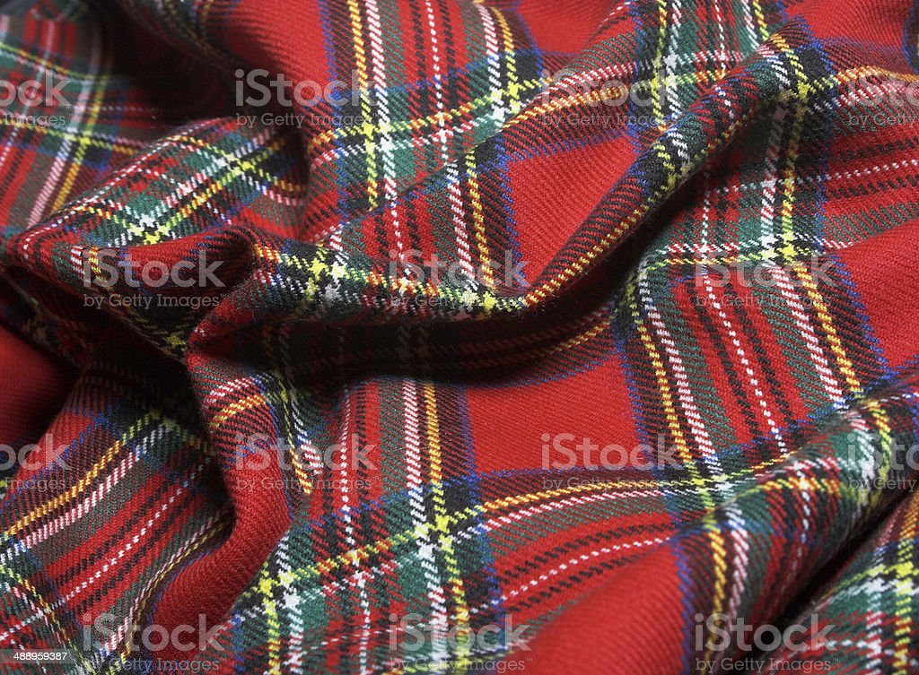 Checked fabric. stock photo
