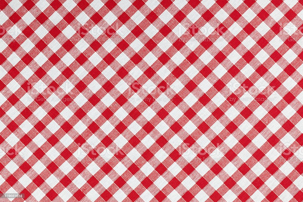 checked fabric , tablecloth texture stock photo