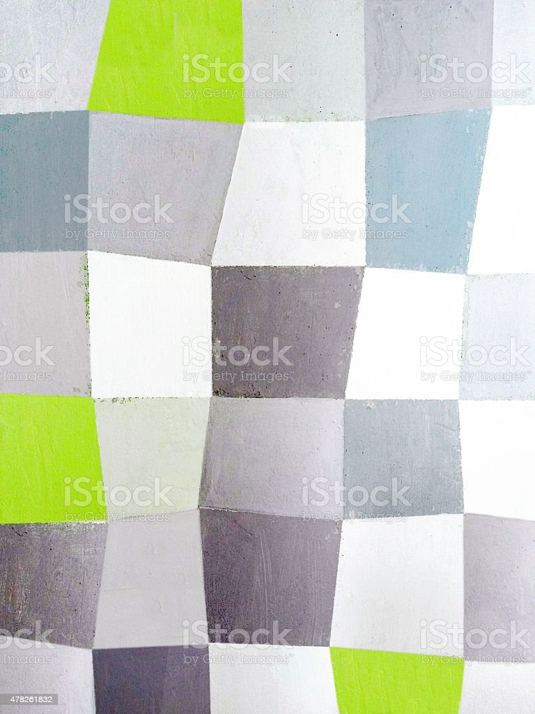 Checked pattern on stucco stock photo