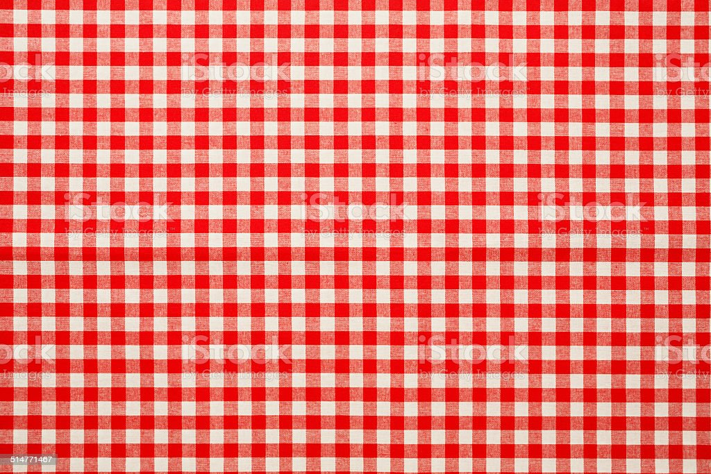 Checked  tablecloth texture stock photo