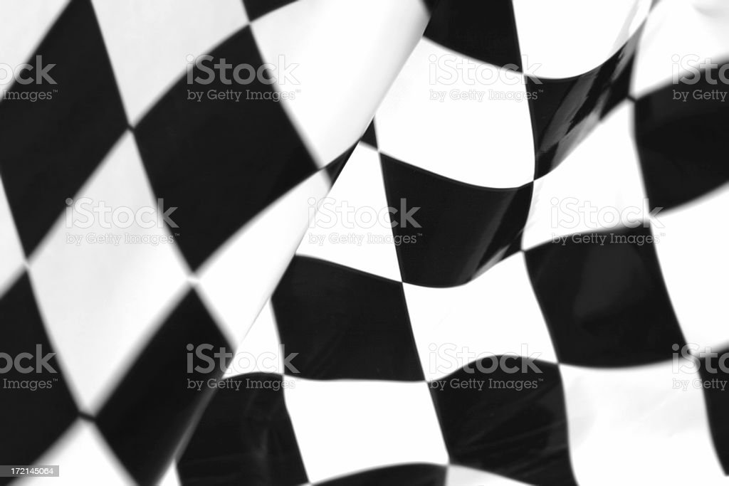 Checker Flag stock photo