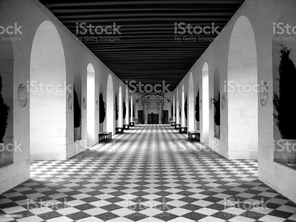 Checkerboard Floor royalty-free stock photo