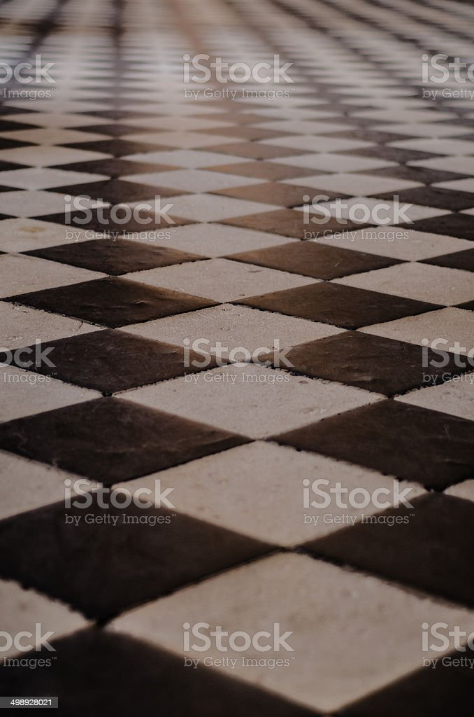 Checkerboard Floor royalty-free stock photo