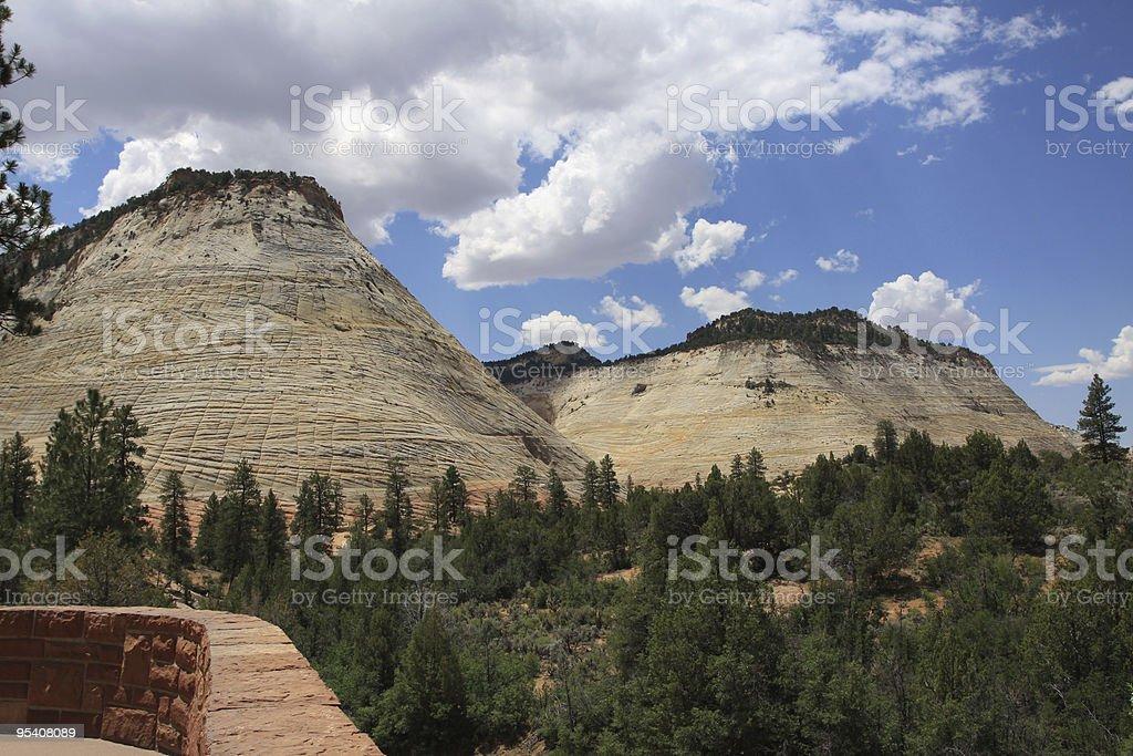 Checkerboard-Plateau Zion National Park Lizenzfreies stock-foto