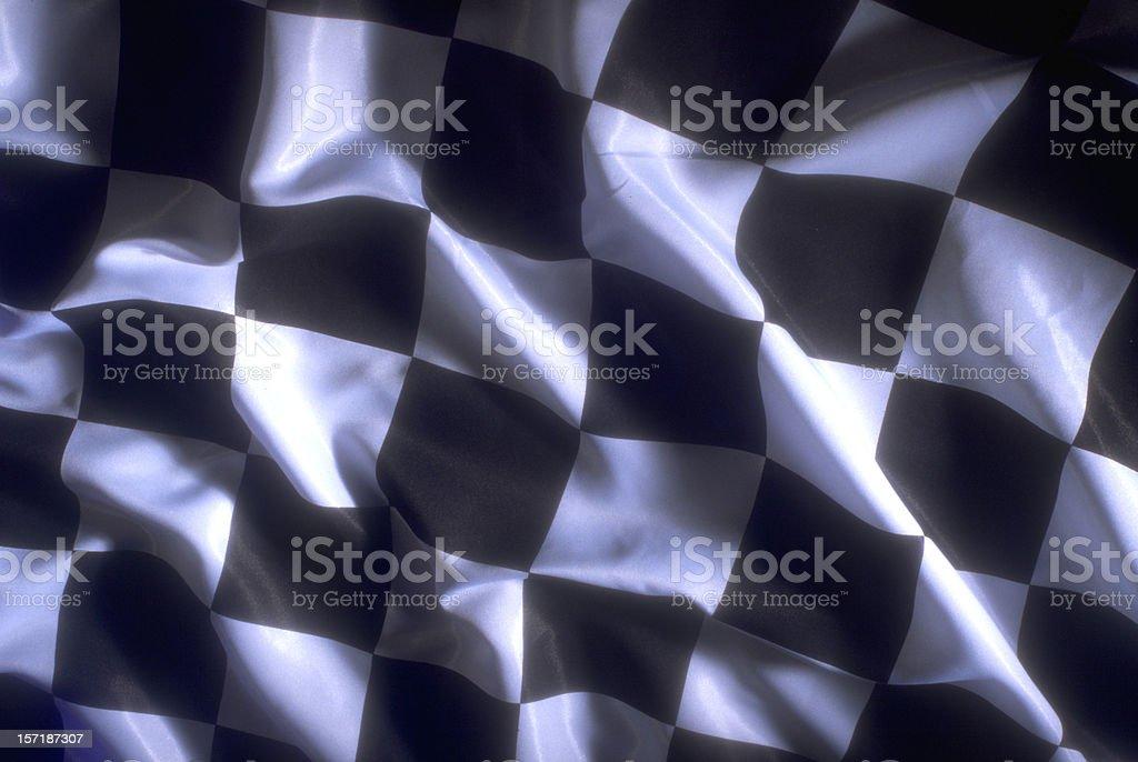 checkerd flag stock photo