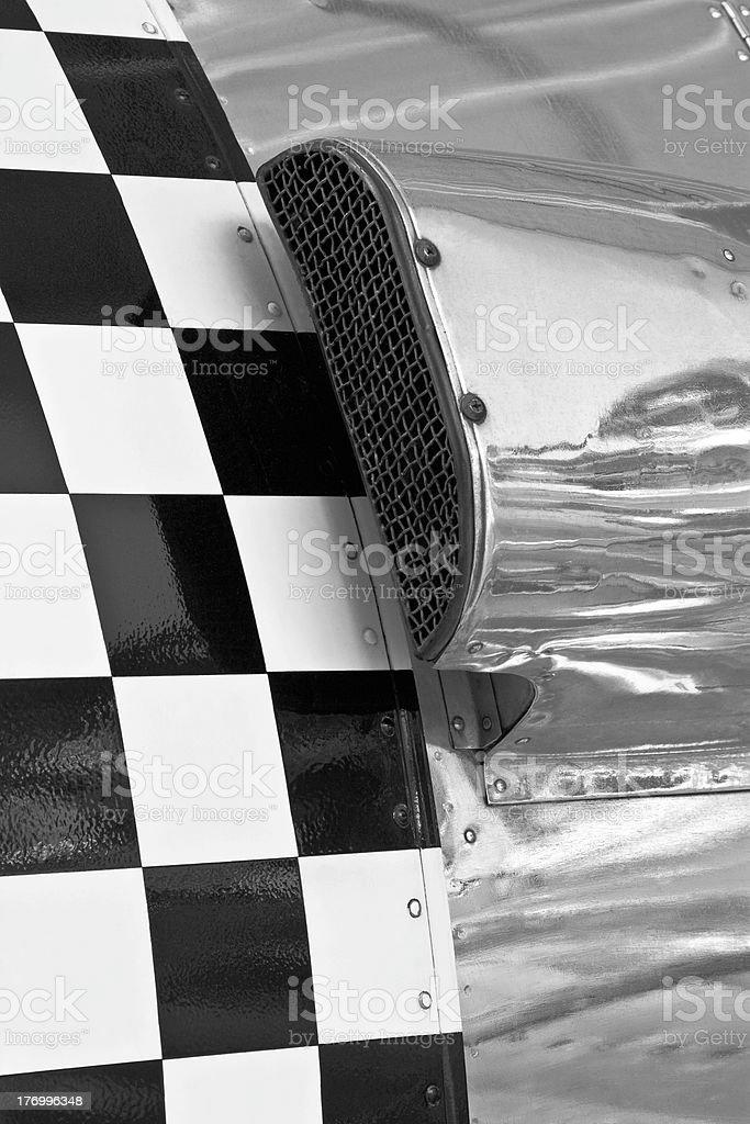 Checkered Airplane Engine Air Intake royalty-free stock photo