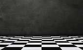 istock Checkered Background In Perspective 1204416942