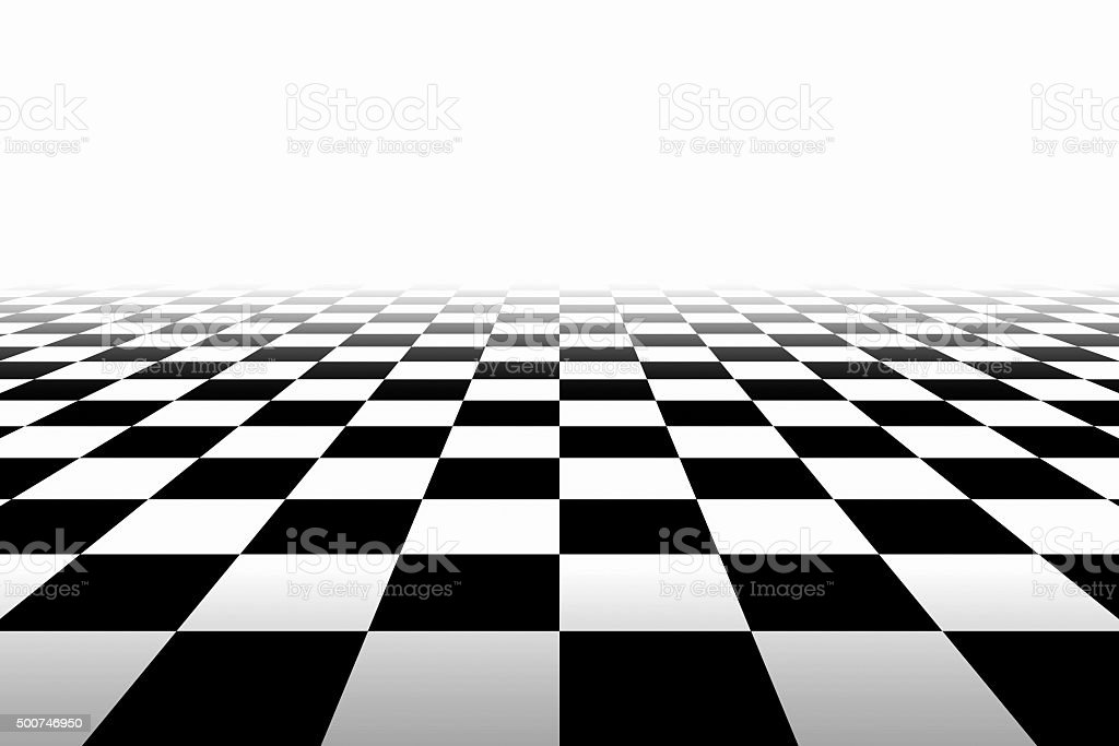 Checkered Background In Perspective stock photo