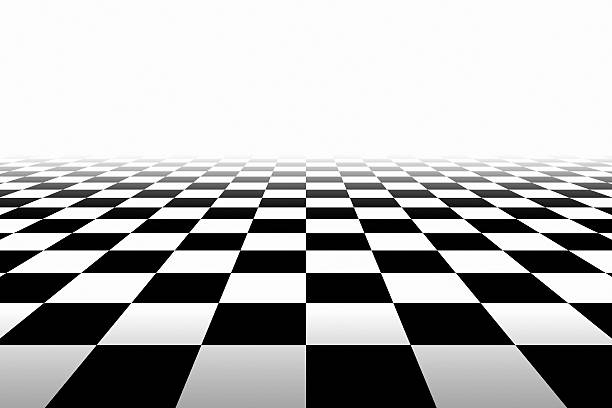 checkered background in perspective - dance floor stock photos and pictures