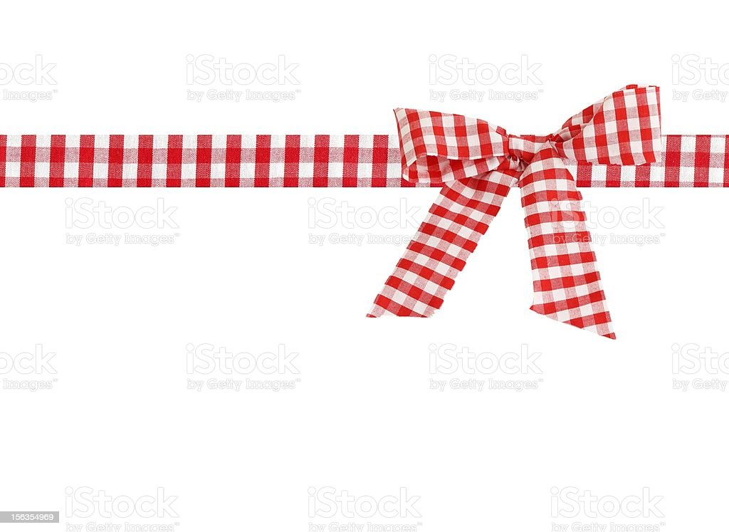 checkered bow stock photo