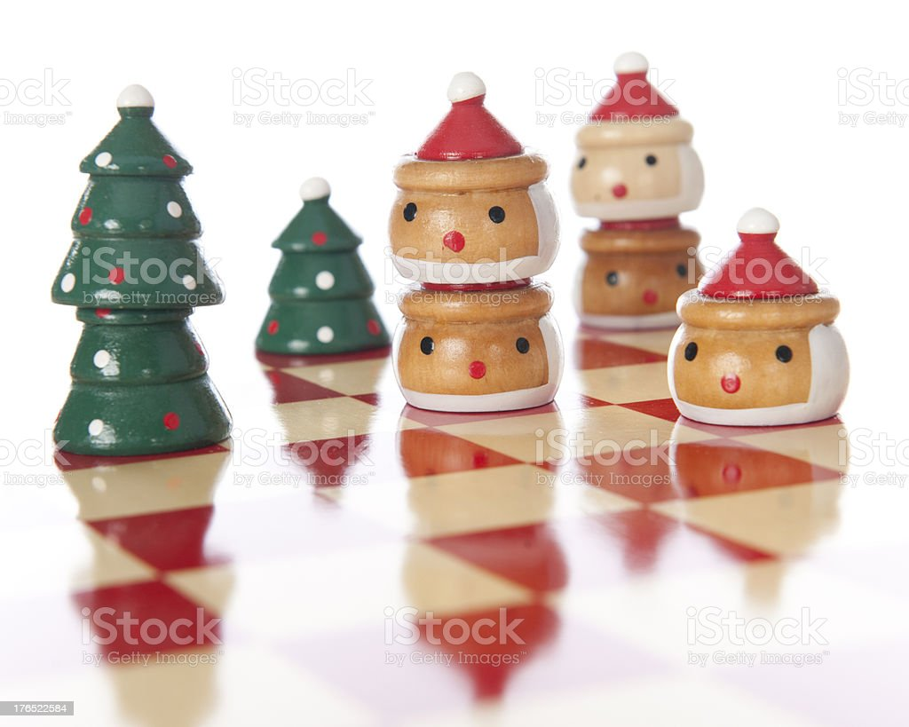 Checkered Christmas royalty-free stock photo