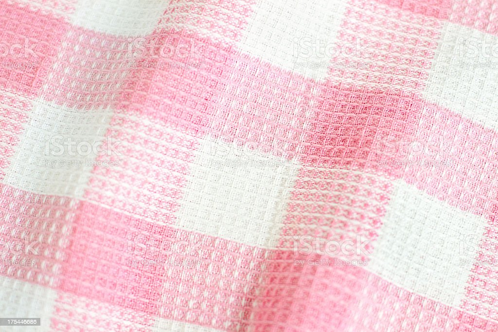 Checkered cloth pattern royalty-free stock photo