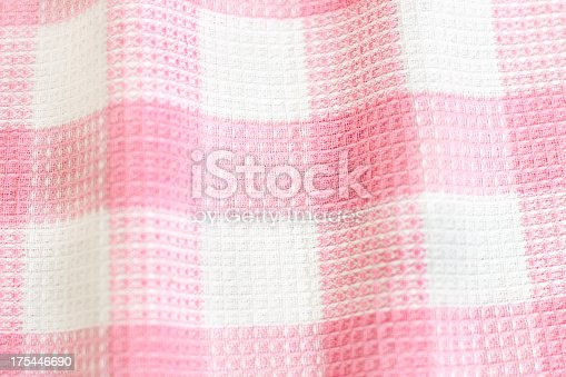 Pink and white tablecloth pattern