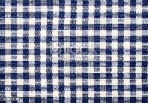 Checkered cloth pattern.