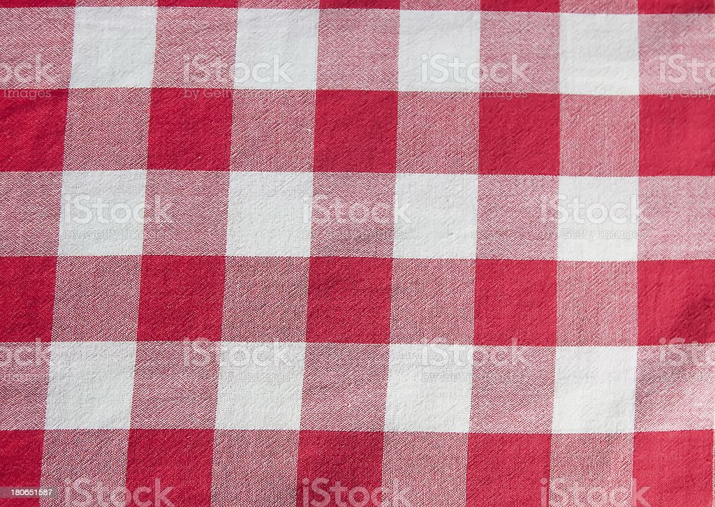 Checkered cloth royalty-free stock photo