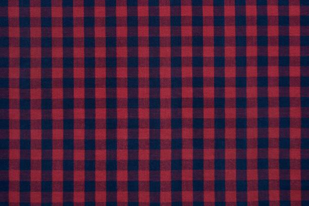 checkered cotton texture for background - mascolinità foto e immagini stock